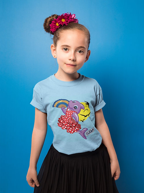 Camiseta Infantil Delfina Flamenca