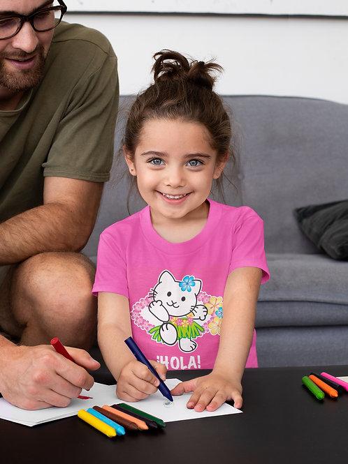 Camiseta Infantil Hola Gata