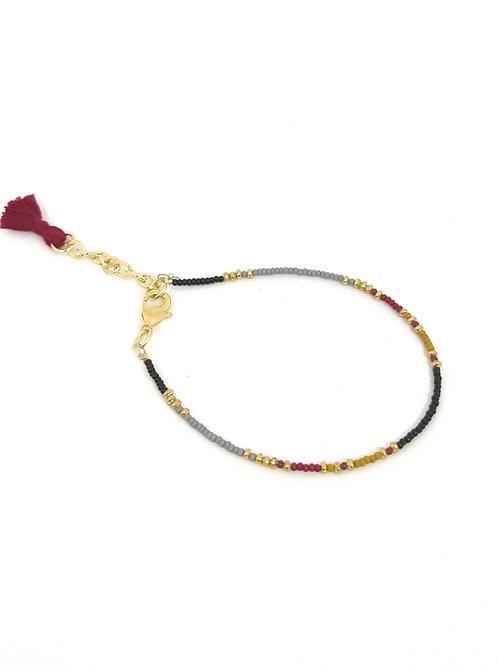 Pulsera con beads multicolor