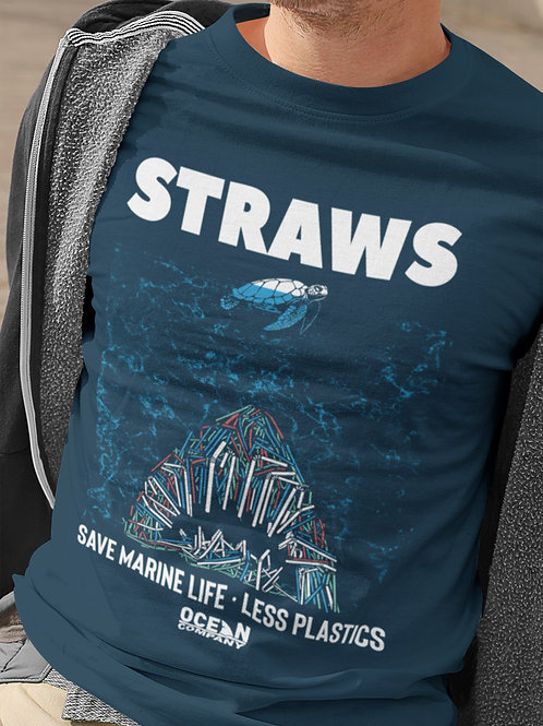 Camiseta Straws - Save Marine Life