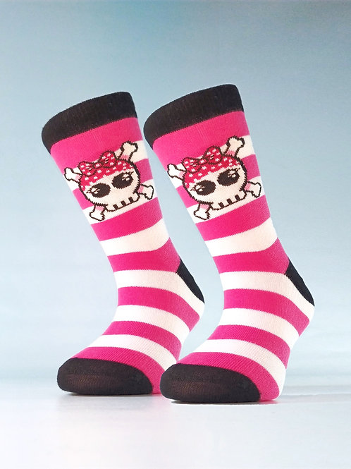 Pack de 2 pares de Calcetines Pirate Girl Rayas