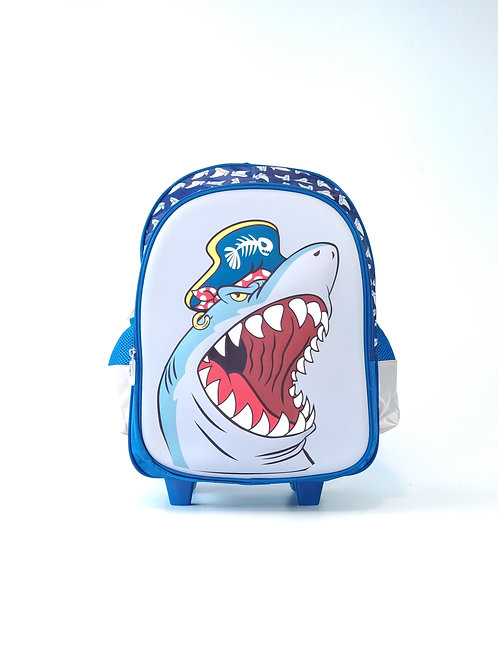 Mochila Trolley Escolar Tiburón