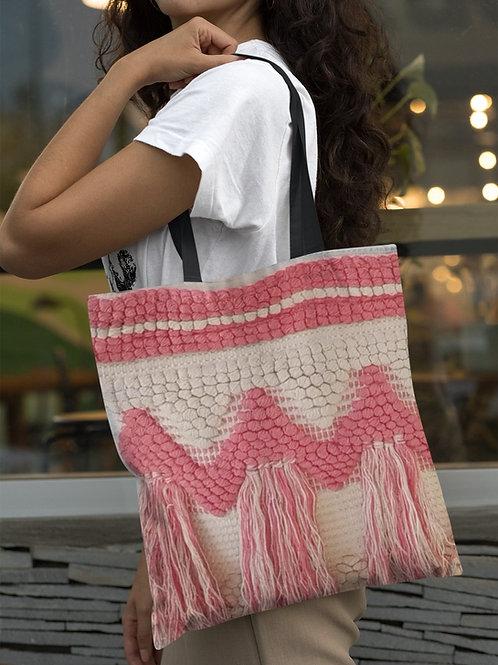 Shopper con bordado zig zag y flecos