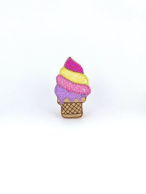 Ice Cream Pink Yellow Purple
