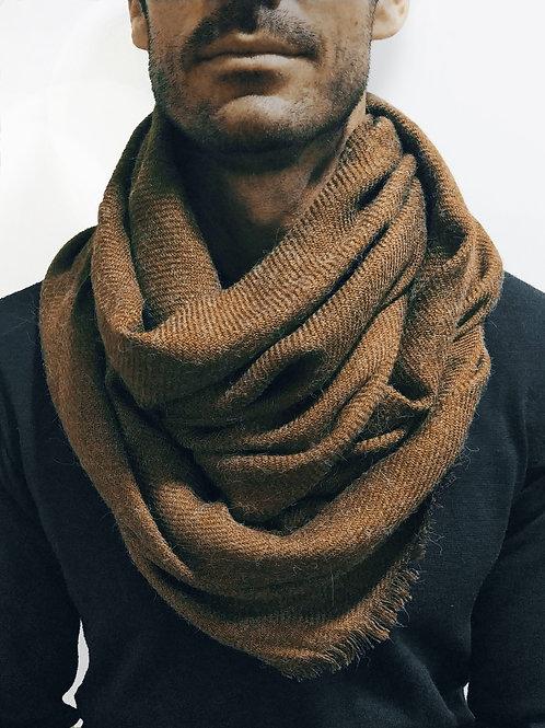 Bufanda de invierno marrón