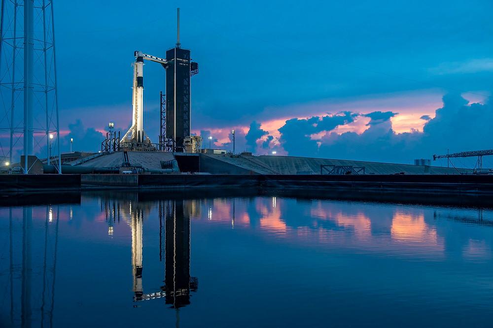 Cohete Falcon 9 en Cabo Cañaveral