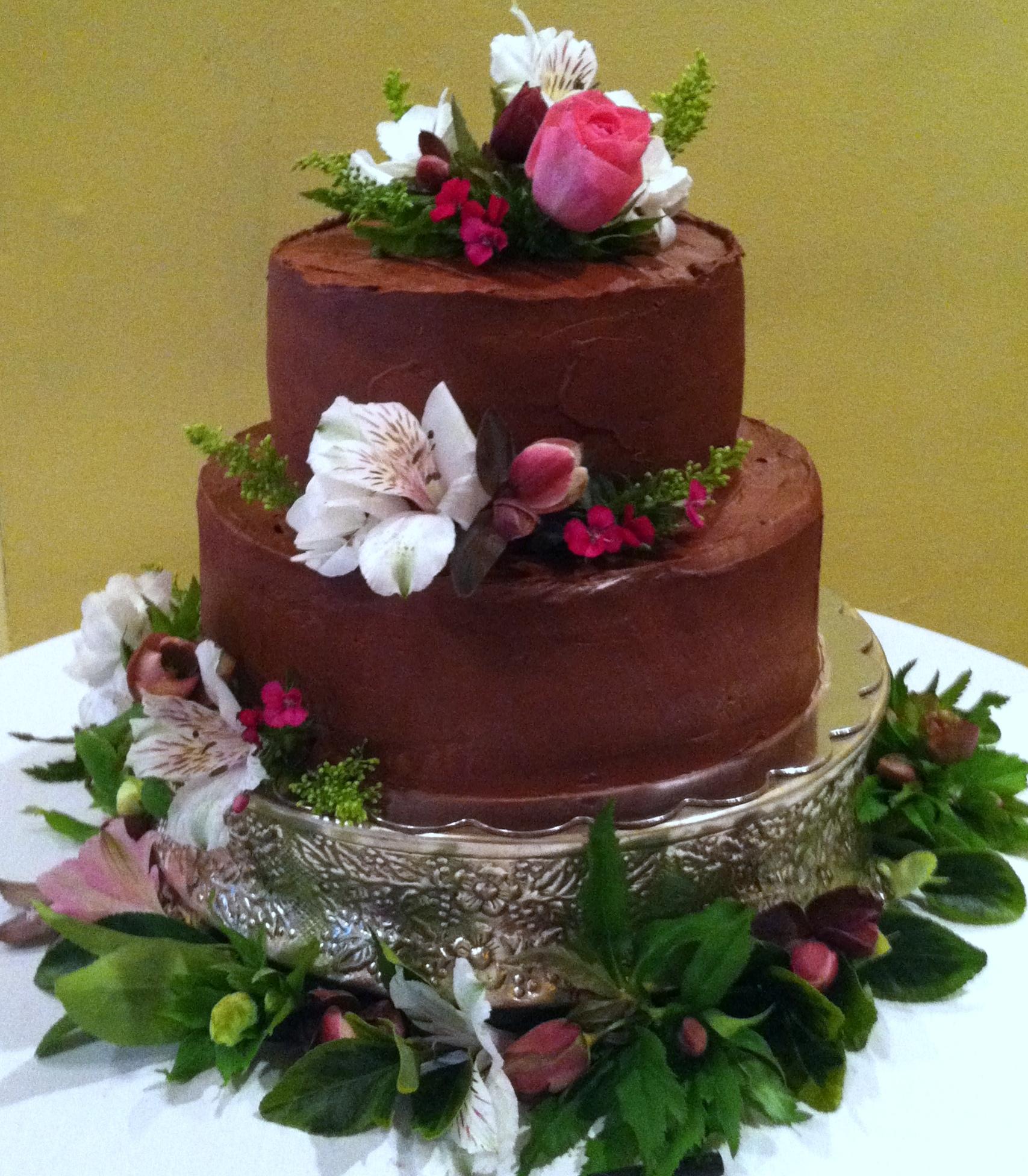 2 Tier Milk Chocolate Layer Cake
