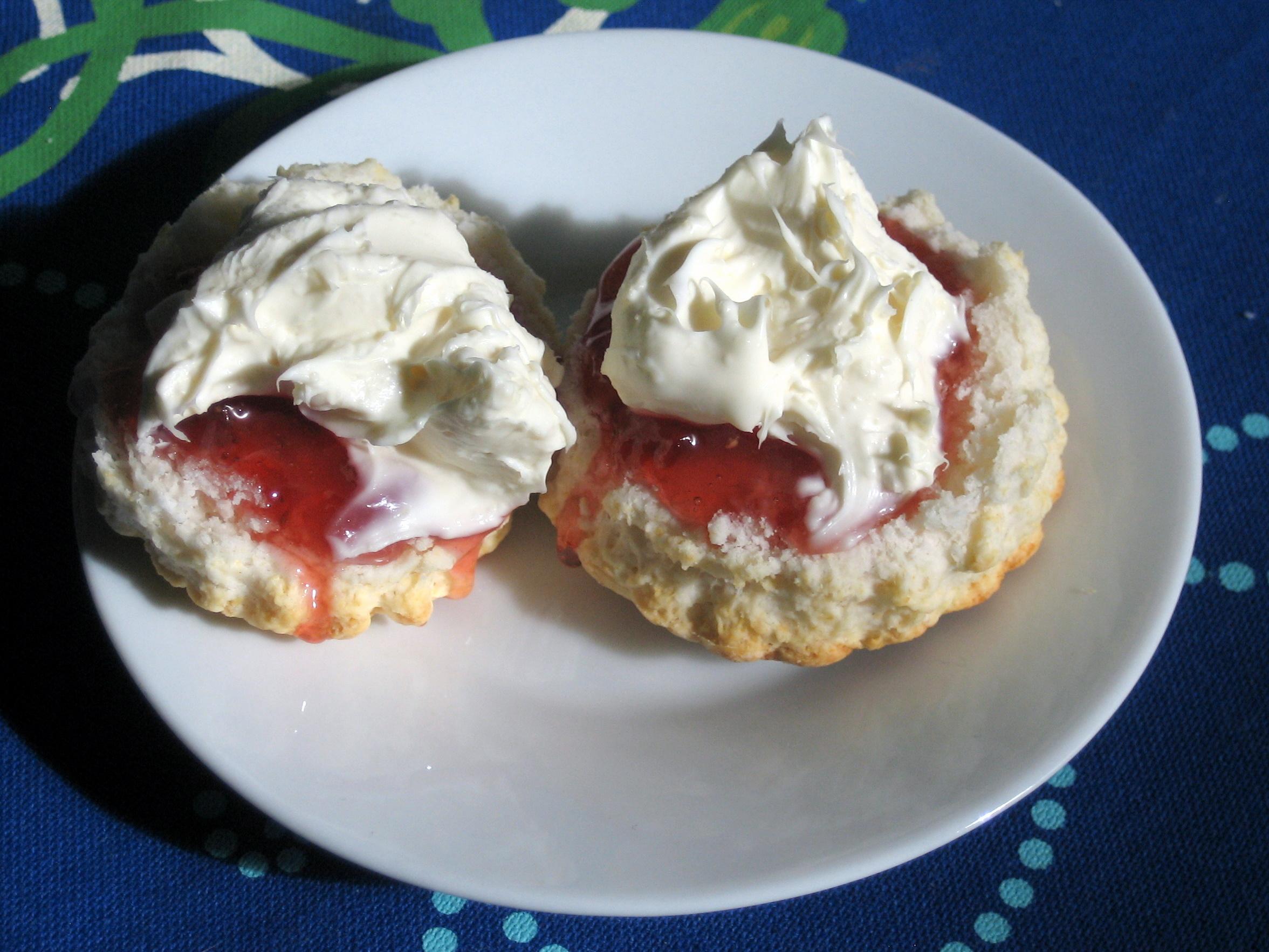 Blakemere pix scones jam and cream
