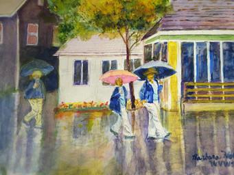 Walking in the Rain at Dollywood