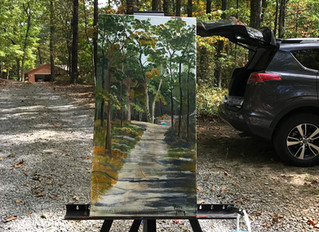 Painting close to home