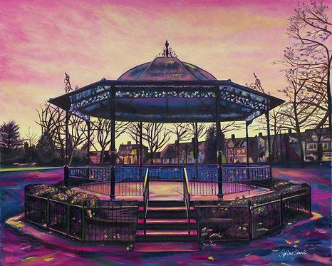 Peach Sun on the Bandstand