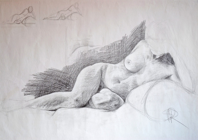 Live model drawing