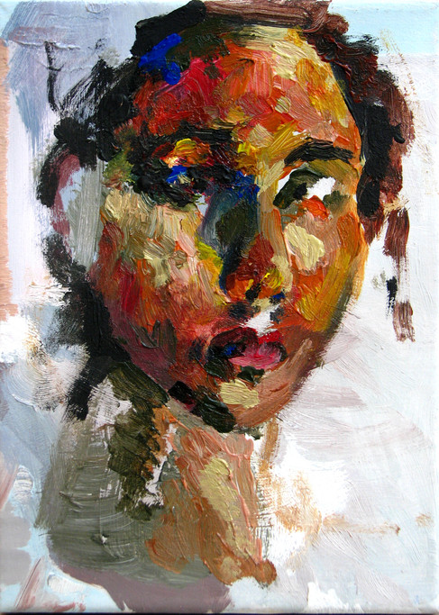 Oil painting live model