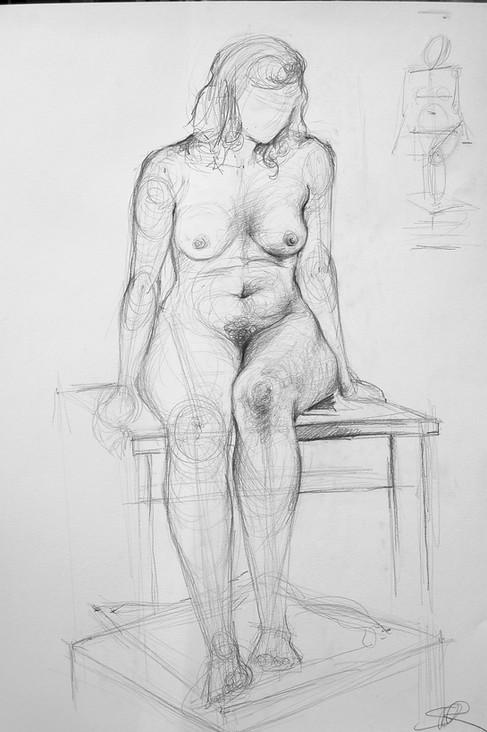 Live model drawing