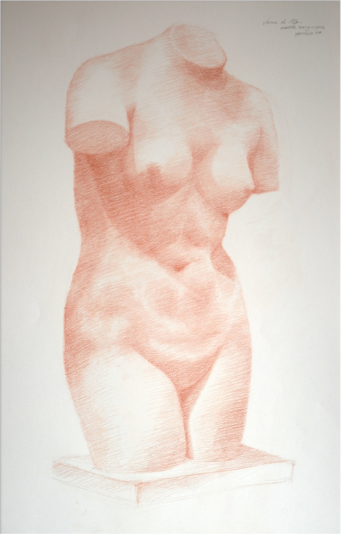 Senna sketch of classical bust