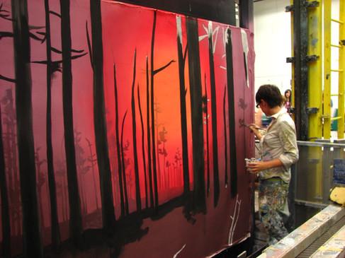 Backdrop scene paint