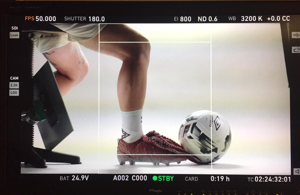 Umbro commercial - Prop make
