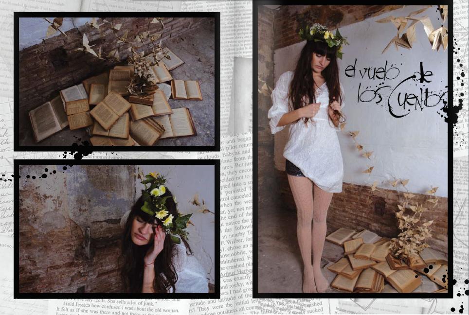 Art installation with fashion photo shoot.