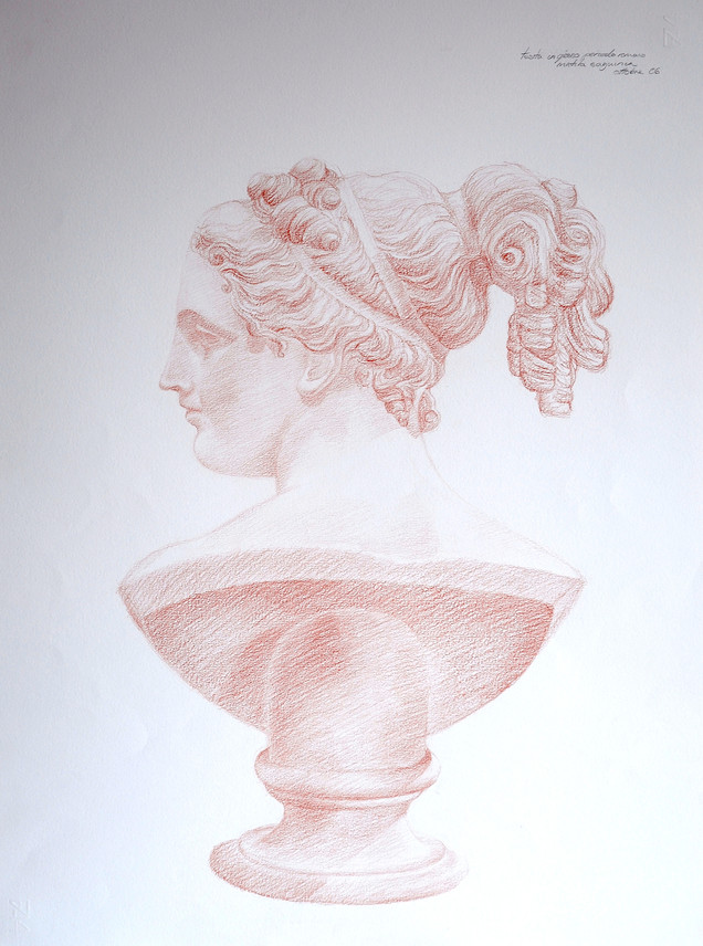 Senna sketch of classical bust
