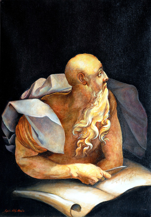 Oil painting copy of Pontormo