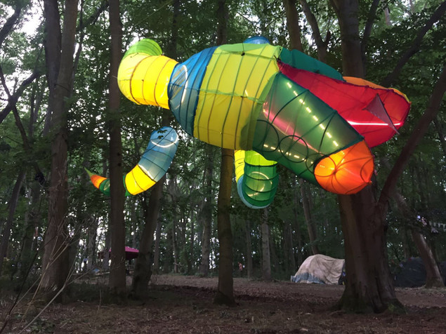 Tree Snake installation for Noisily Festival