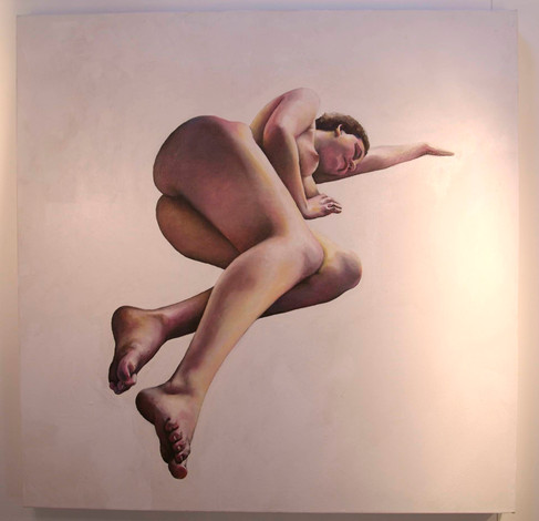 Oil painting of model