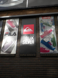 InStore Quiksilver Banners