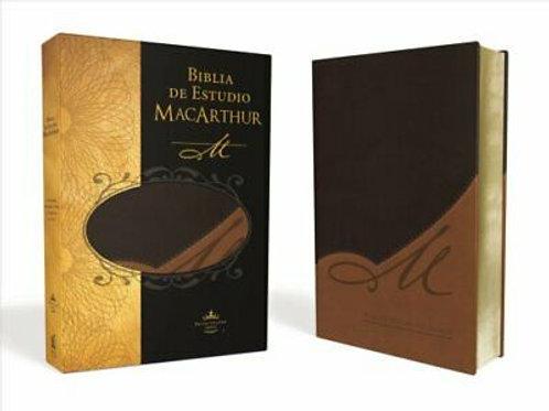 BIBLIA DE ESTUDIO MACARTHUR PIEL ITALIANA