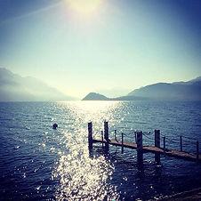 Good morning _ Sunrise at Lake Como_Choo