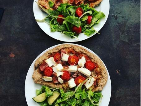 Pizza maison à la farine complète 🍅