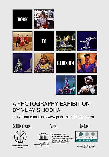 BORN TO PERFORM Exhibition Poster- No da
