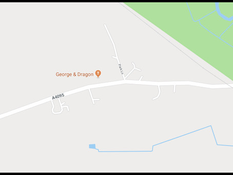 Temporary Traffic Lights - A4095 - Long Hanborough