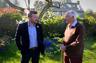 Meeting a resident in Ramsden.