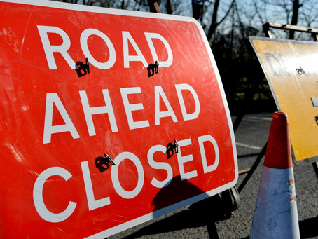 A4095 Road Closure by Pye Homes Site
