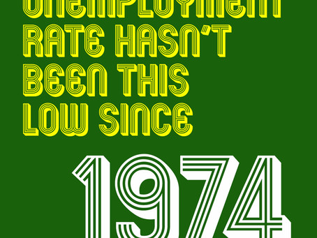 The UK unemployment rate is now at the lowest rate since 1974
