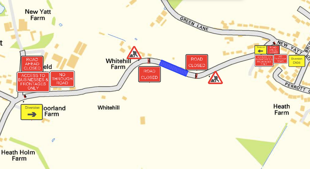 New Yatt Road - North Leigh - Road Closure