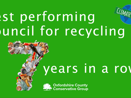 Oxfordshire at top of recycling table for seventh year
