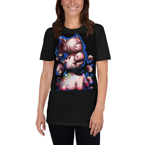 Porcelain Ghost Pig | Short-Sleeve Unisex T-Shirt