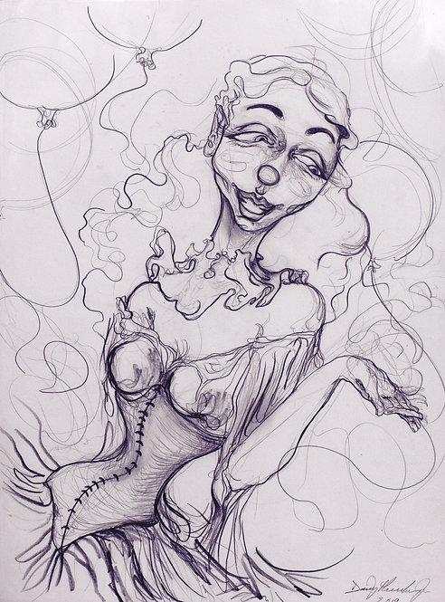 Victorian clown