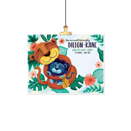Custom - Lion Love Birth Announcement