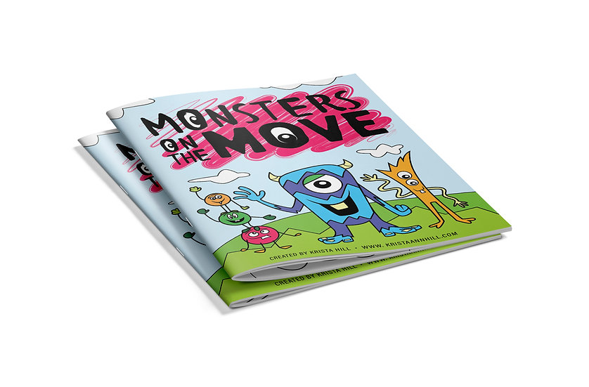Monsters on the Move Coloring Book