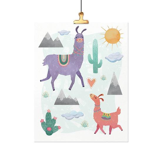 Llamas Prancing