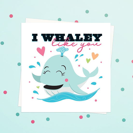 Greeting Card - Whale Animal Pun Square Cards