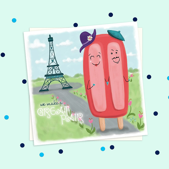 Greeting Card - Popcicle Sweet Treats Square Card
