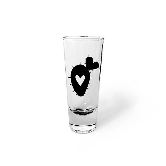 Small Prickly Pear Cactus Shot Glass