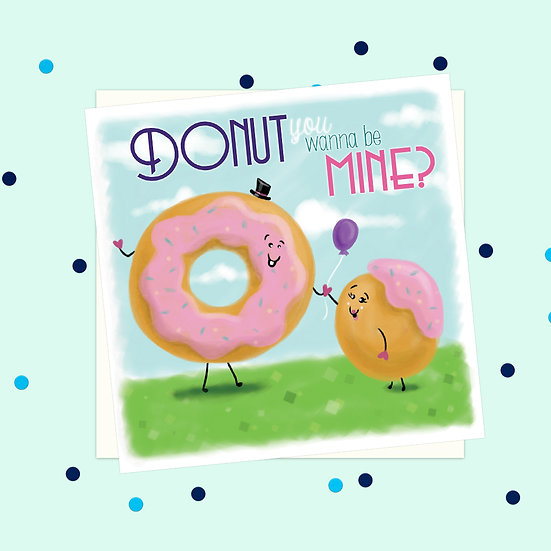 Greeting Card - Donut Sweet Treats Square Card