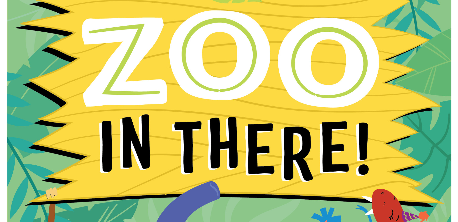 Children's Zoo Themed Birthday Party Sign