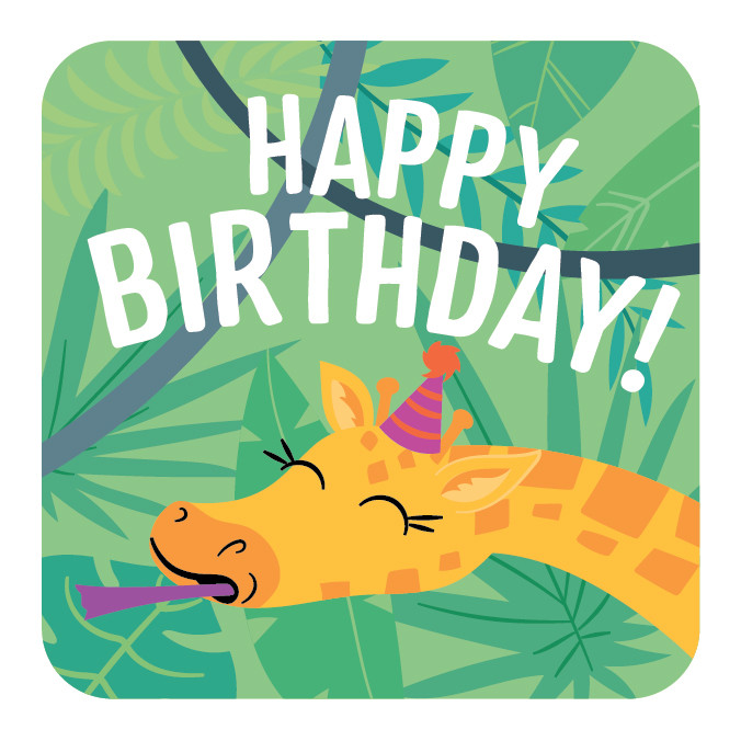 Children's Zoo Themed Birthday Party Cupcake Topper