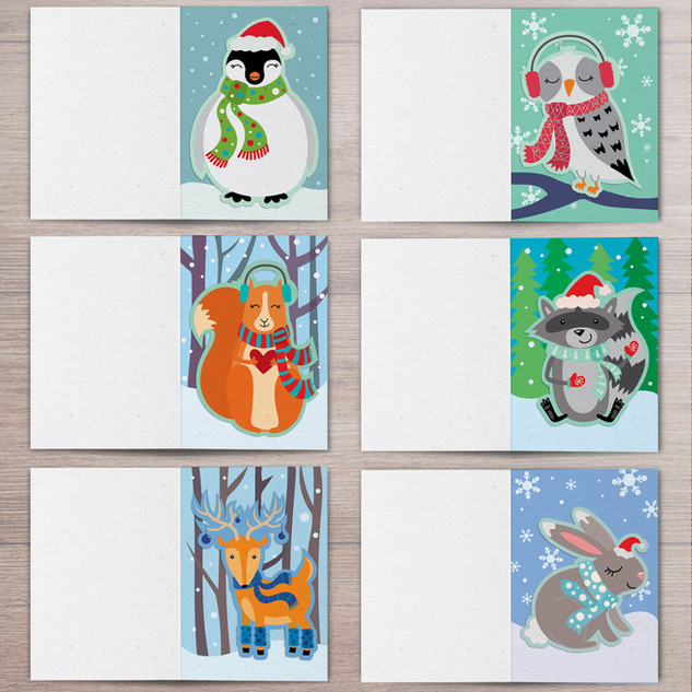 Die-Cut Holiday Cards