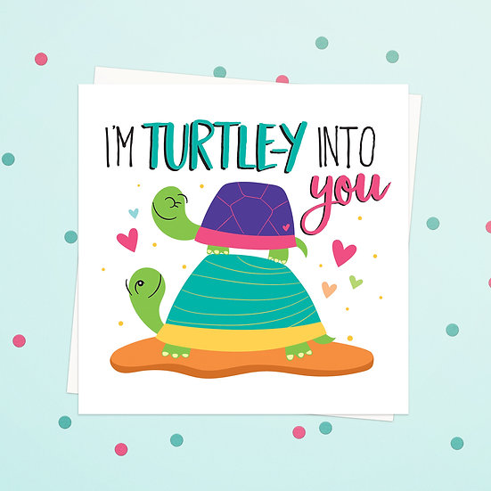 Greeting Card - Turtle Animal Pun Square Cards